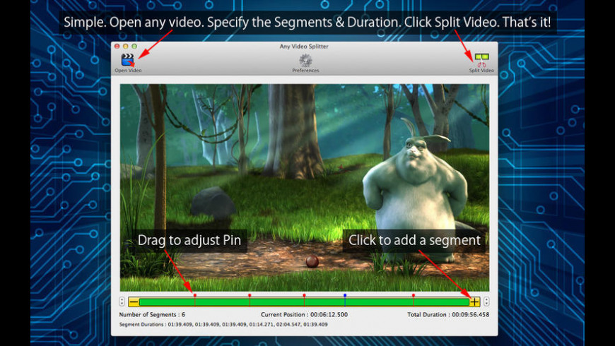 Any Video Splitter for Mac - review, screenshots
