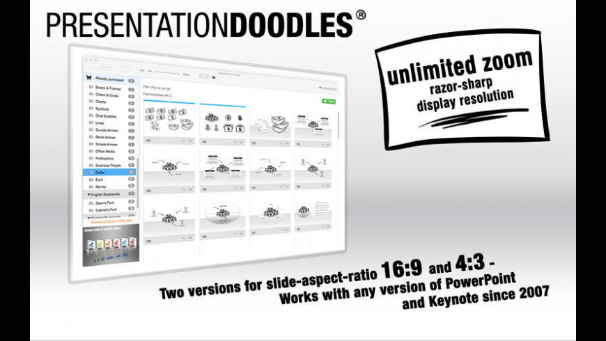 PresentationDoodles for PowerPoint and Keynote for Mac - review, screenshots