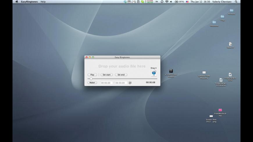 Easy Ringtones for Mac - review, screenshots