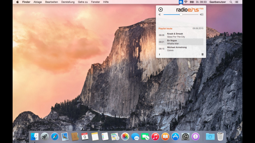 RadioEins for Mac - review, screenshots