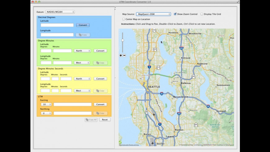 UTM Coordinate Converter 1 0 1 Free Download for Mac | MacUpdate