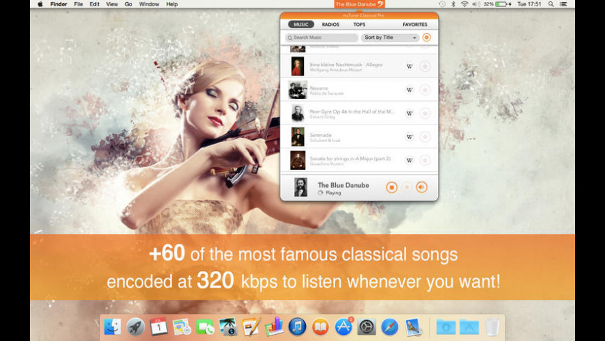 myTuner Classical Pro for Mac - review, screenshots