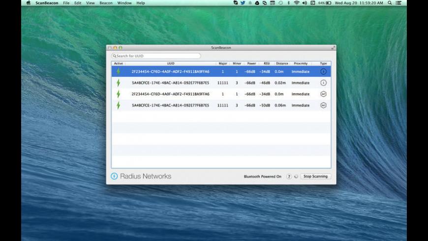 ScanBeacon for Mac - review, screenshots