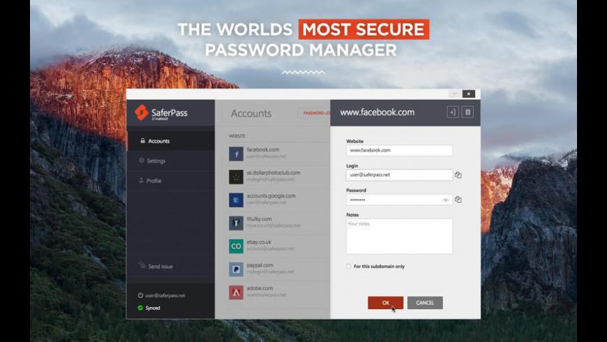 SaferPass for Mac - review, screenshots