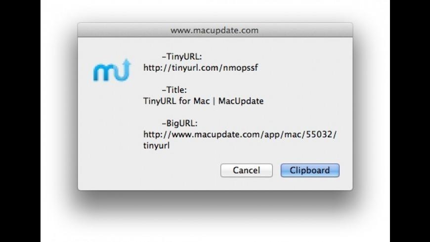 TinyURL for Mac - review, screenshots