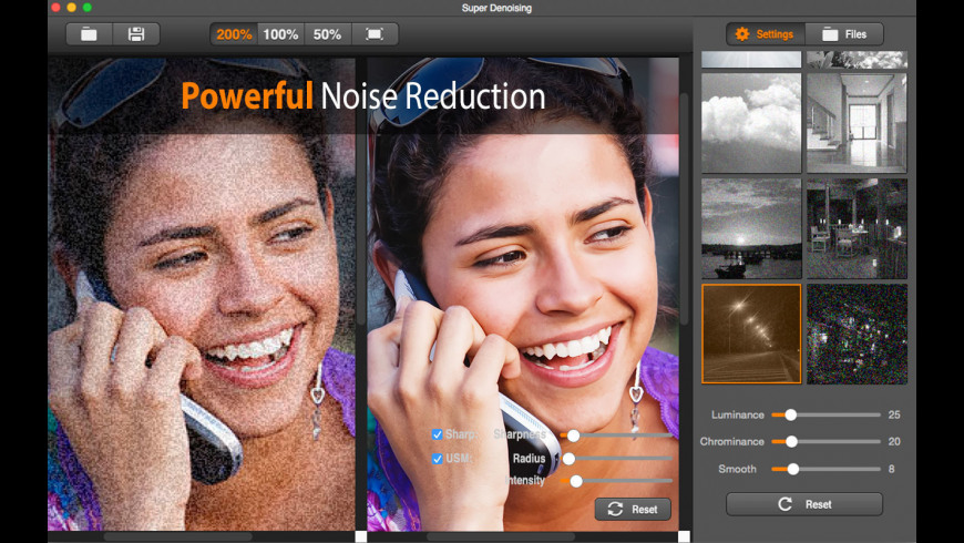 Super Denoising for Mac - review, screenshots