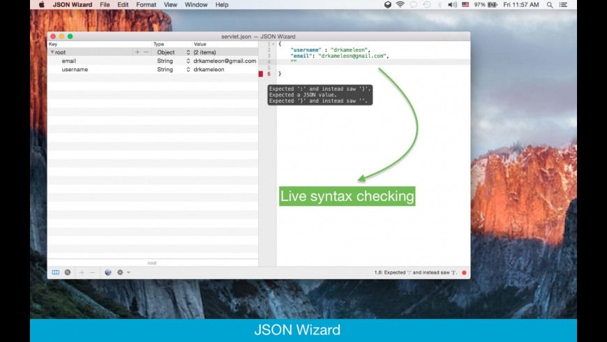 JSON Wizard 1 3 Free Download for Mac | MacUpdate