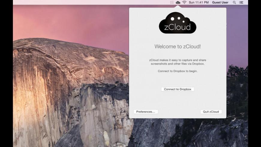 zCloud for Mac - review, screenshots