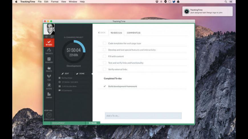 TrackingTime for Mac - review, screenshots