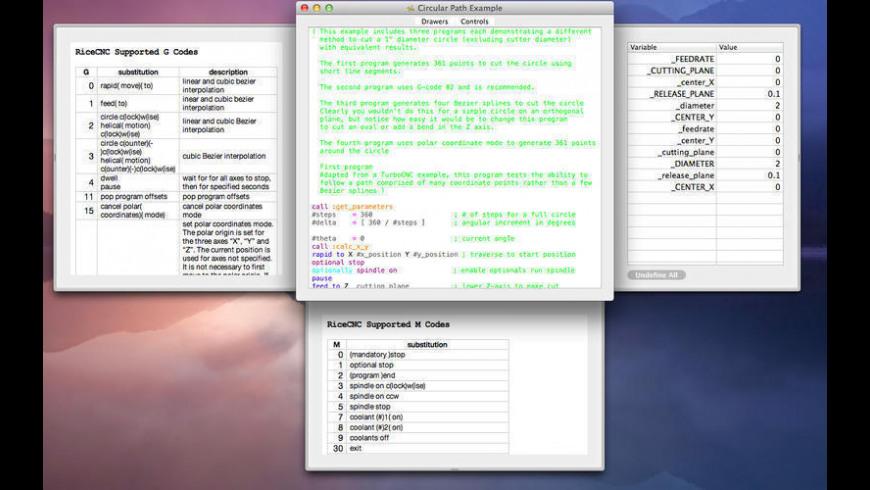 RiceCNC for Mac - review, screenshots