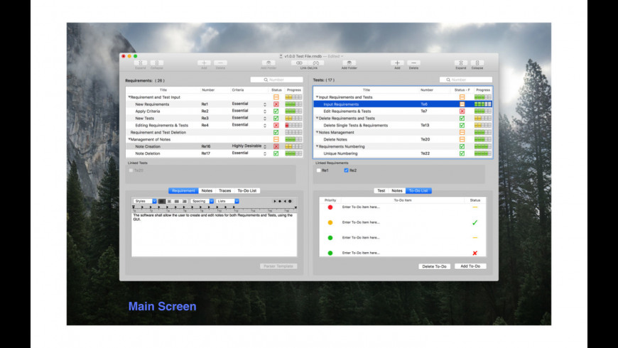 Requirements Manager for Mac - review, screenshots