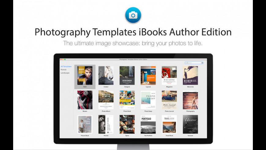 Photography Templates iBooks Author Edition for Mac - review, screenshots