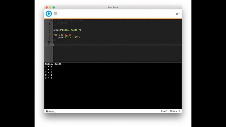 Run Swift for Mac - review, screenshots