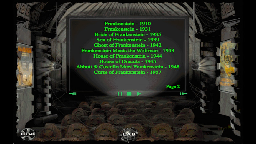 Interactive History of Frankenstein for Mac - review, screenshots