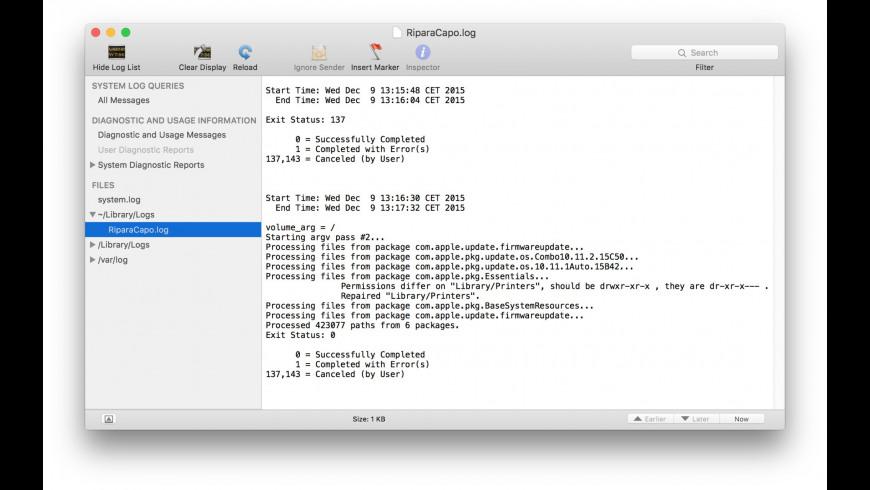 RiparaCapo for Mac - review, screenshots