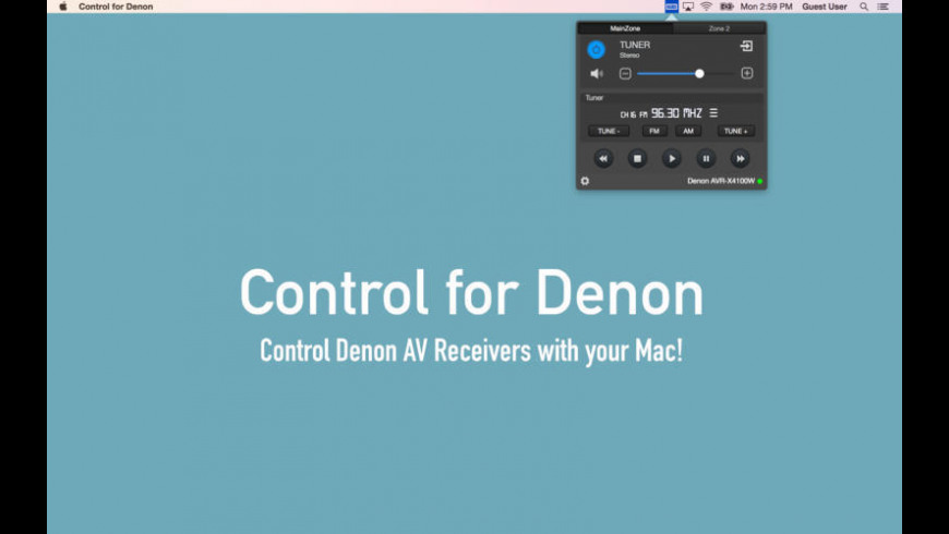 Control for Denon for Mac - review, screenshots