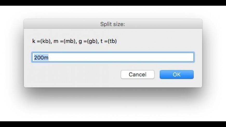 ZipSplitMaker for Mac - review, screenshots
