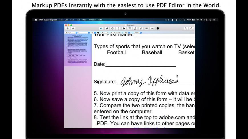 PDF Signer Express for Mac - review, screenshots