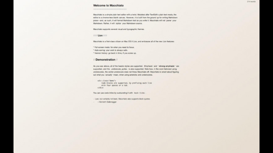 Macchiato for Mac - review, screenshots
