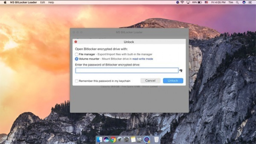 M3 Bitlocker Loader for Mac - review, screenshots