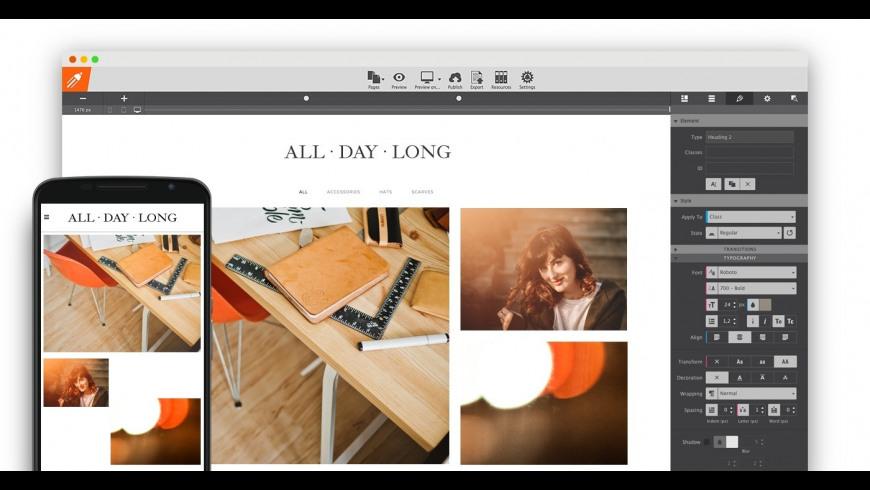 Responsive Site Designer for Mac - review, screenshots