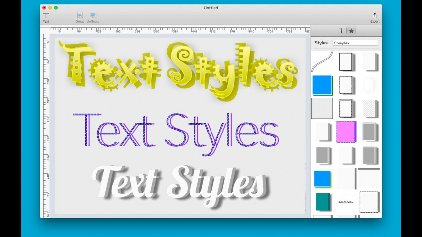 Text Styles for Mac - review, screenshots