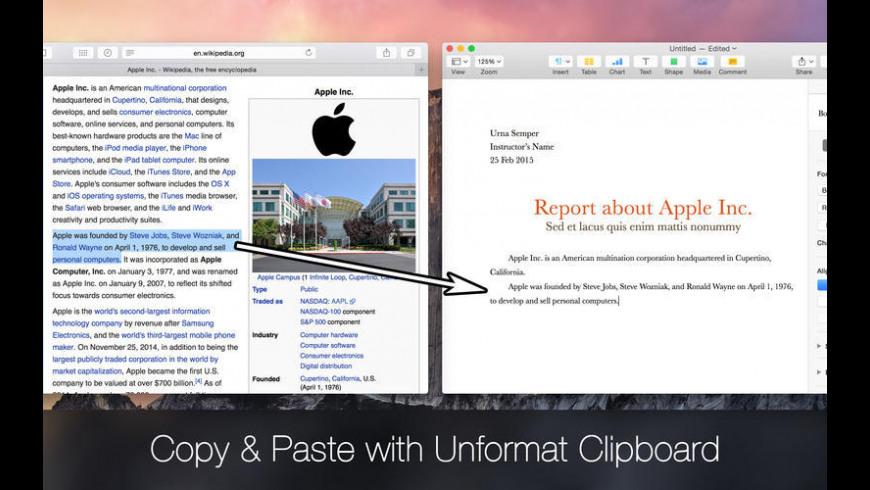 Unformat Clipboard for Mac - review, screenshots