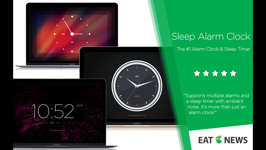 Sleep Alarm Clock Pro for Mac - review, screenshots