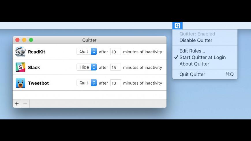Quitter for Mac - review, screenshots