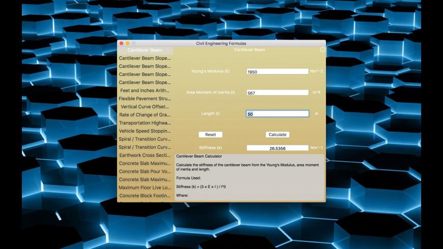 Civil Engineering Formulas for Mac - review, screenshots