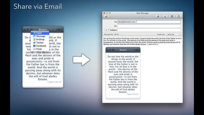Bible Verse for Mac - review, screenshots