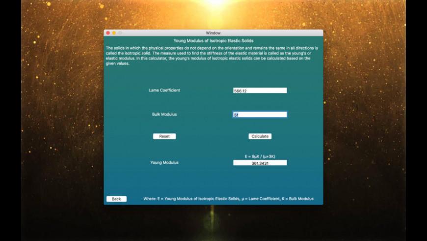 Dynamics Calculators for Mac - review, screenshots