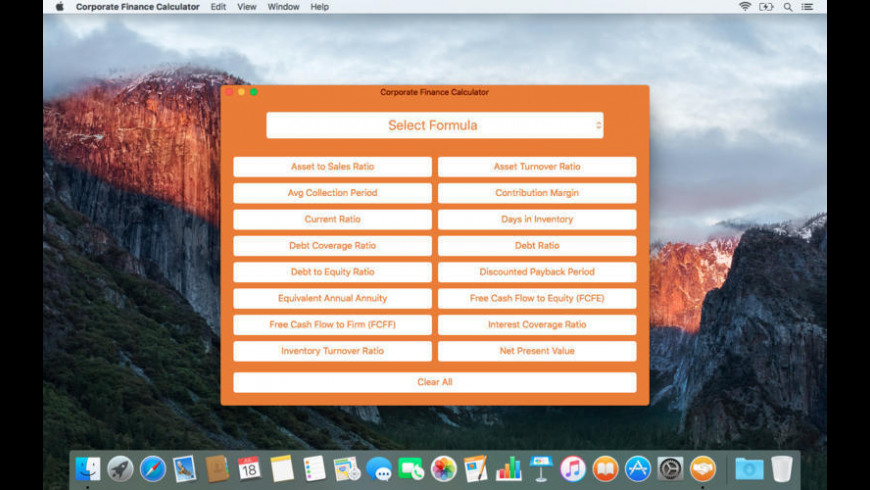 Corporate Finance Calculator for Mac - review, screenshots