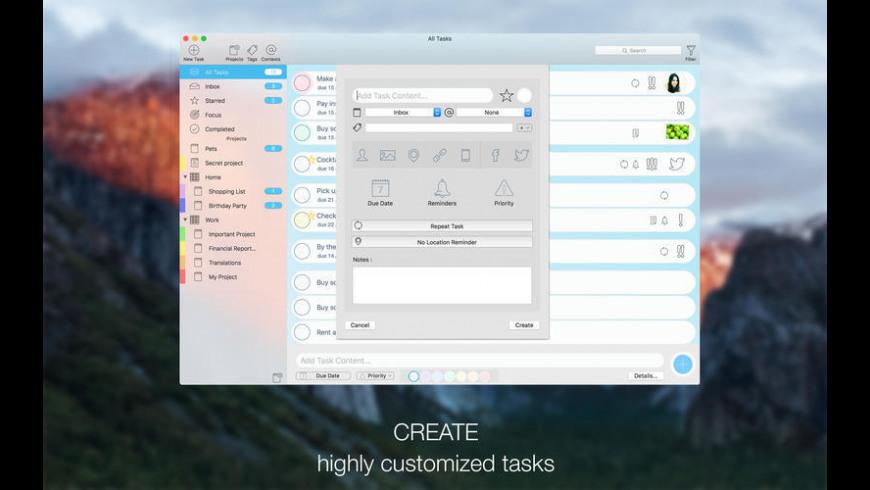 Tasker for Mac - review, screenshots