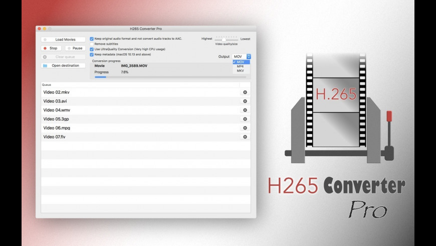 H265 Converter Pro for Mac - review, screenshots