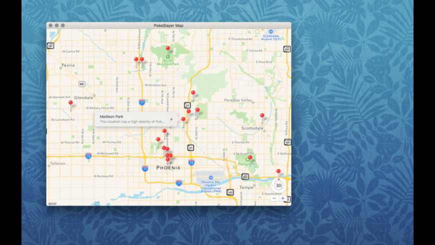 Map for Pokemon Go for Mac - review, screenshots