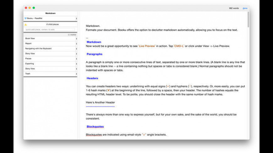 Booku for Mac - review, screenshots