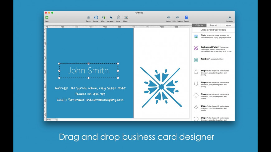 Blue Penguin Business Card Designer for Mac - review, screenshots