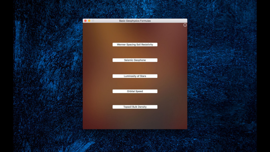 Basic Geophysics Formulas for Mac - review, screenshots