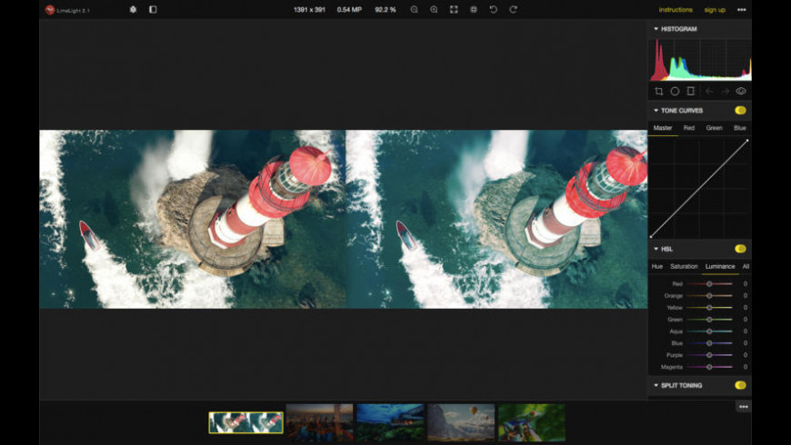 LimeLight for Mac - review, screenshots