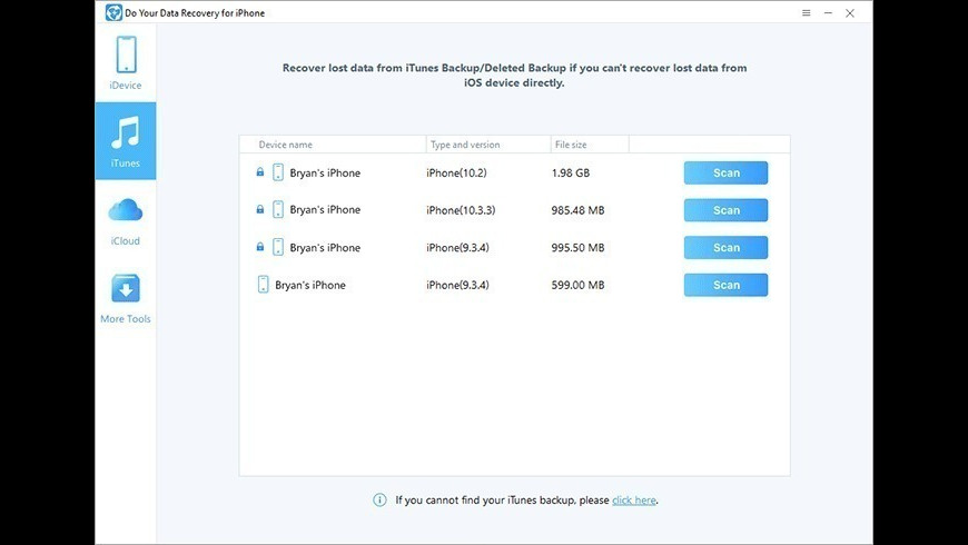 Do Your Data Recovery for iPhone for Mac - review, screenshots