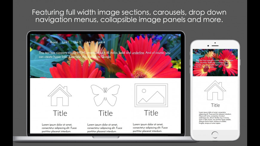 Mobile Web Page Templates for Mac - review, screenshots