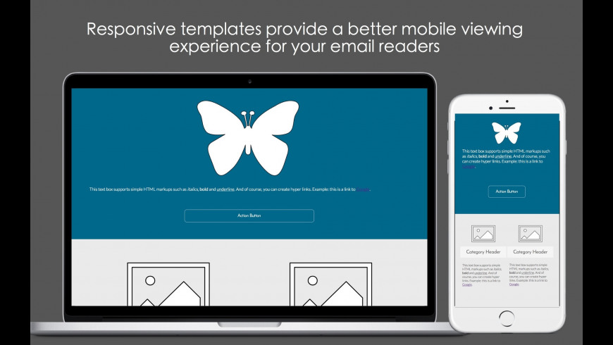 Mobile Email Templates for Mac - review, screenshots
