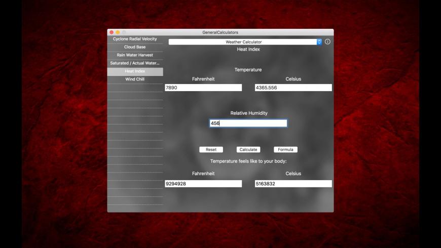 GeneralCalculators for Mac - review, screenshots