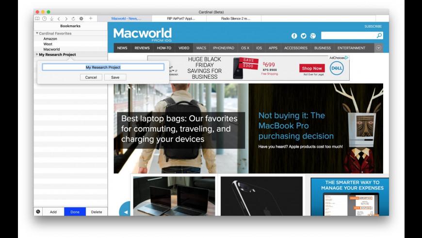 Cardinal for Mac - review, screenshots