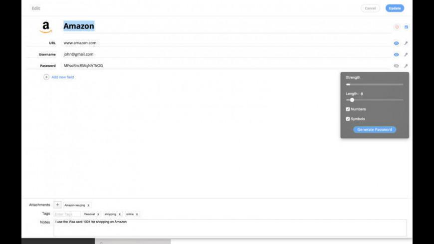 Gpass for Mac - review, screenshots
