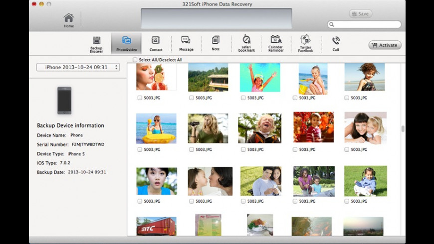 iPhone Recovery for Mac - review, screenshots