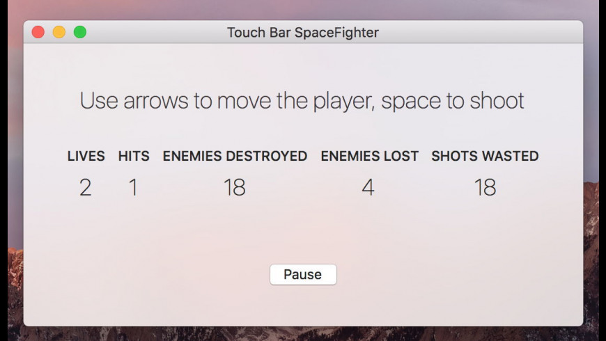 TouchBarSpaceFight for Mac - review, screenshots