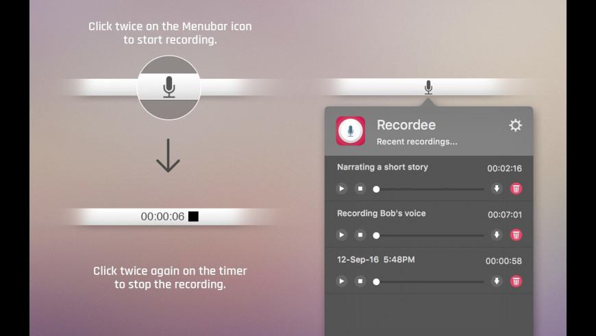 Recordee for Mac - review, screenshots