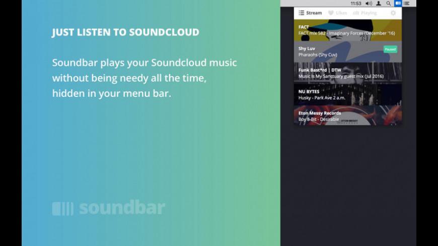 Soundbar for Mac - review, screenshots
